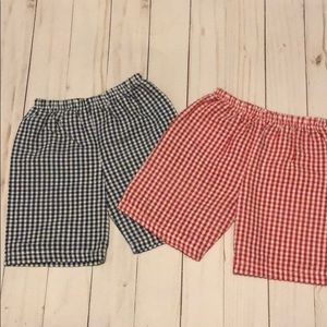 Other - Gingham Toddler Baby Boy Shorts red and navy